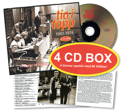 Tio i Topp 1961 - 1974 (4 CD Box)